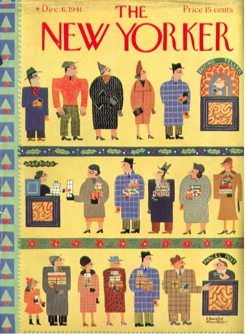 Charles E. Martin : Cover art for The New Yorker 877 - 6 December 1941