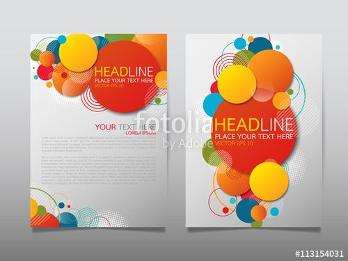 Vector Colorful Circle Technology Annual Report Brochure Flyer