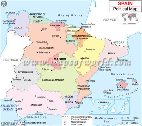 Bilbao On Map Of Spain.Spain Map Country Maps Map Of Spain Map Spain