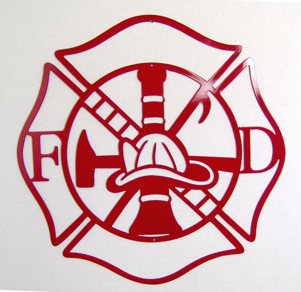 Maltese Cross Firefighter Metal Art Fire Department Indoor Or Outdoor Wall Sign Ebay Metal Wall Art Metal Art Metal Art Projects