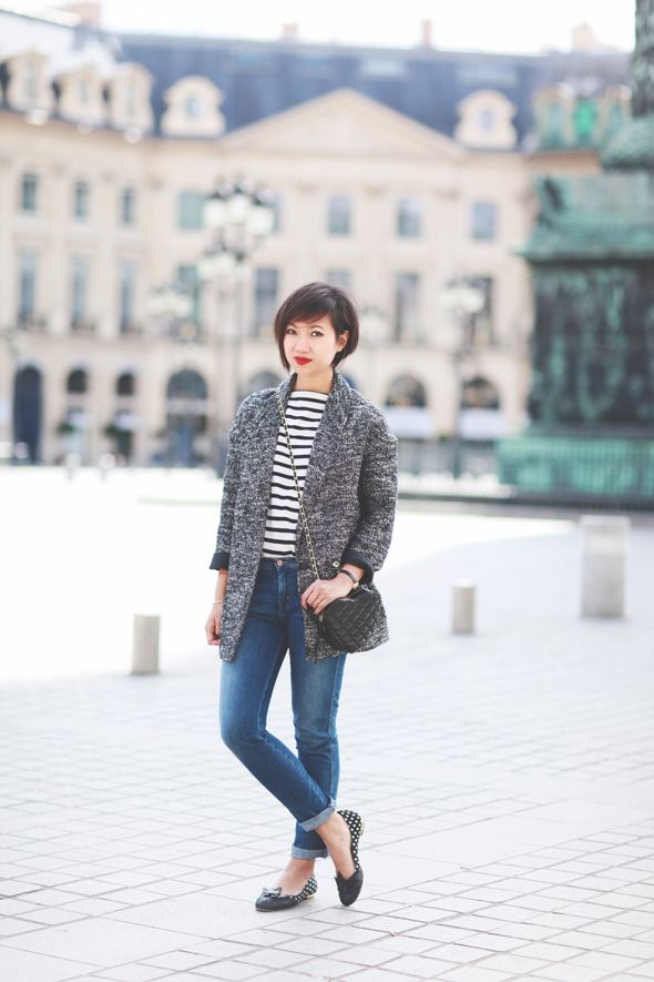 Blog mode | Le monde de Tokyobanhbao wearing MiH Paris Jeans in Sugarblue http://www.mih-jeans.com/womens-jeans/the-paris-sugarblue.html