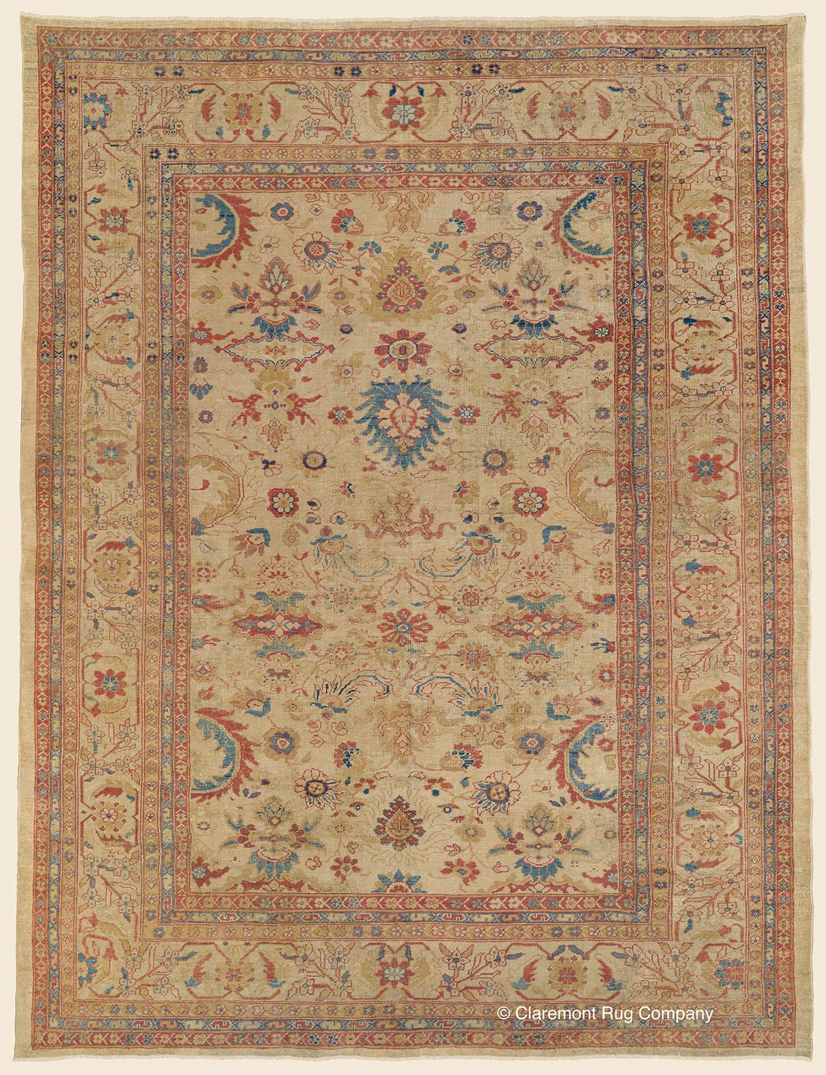 Sultanabad 9 6 X 12 8 Circa 1875 West Central Persian Antique Rug Claremont Rug Company Click To Rug Company Persian Rug Designs Claremont Rug Company