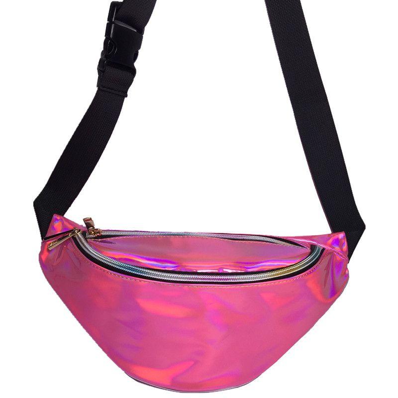 Bolsa Pochete de Cintura Holográfica Diversas Cores 5d763d86b24