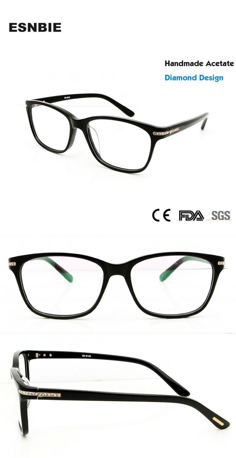 f604f5ee8c67 Fashion diamond luxury eye glasses frames for women myopia glasses optical  spectacle frame women brand design