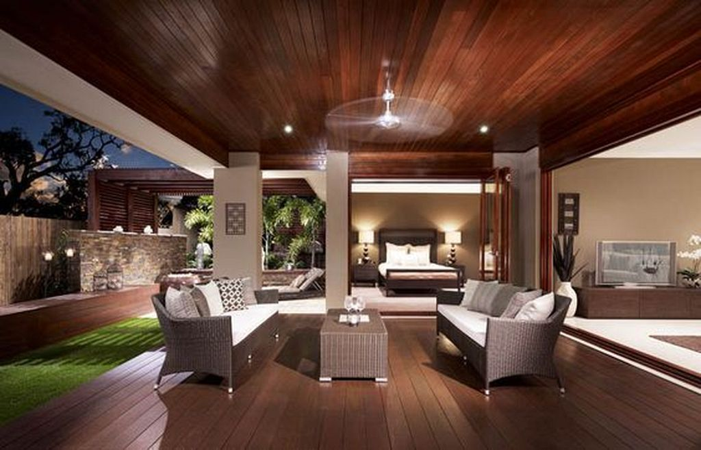 20+ Modern Homes Design Complete with Outdoor Living Room ...