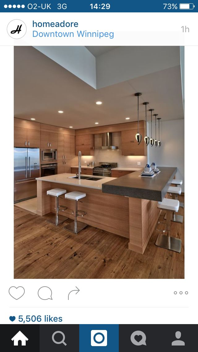 Breakfast bar | Para el hogar | Pinterest | Cocinas, Muebles de ...