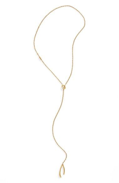 Madewell 'Wishbone' Lariat Necklace available at #Nordstrom