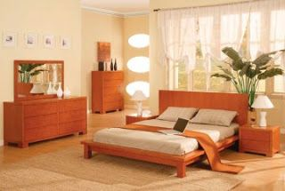 Cherry Modern Bedroom Furniture | The Seville Cherry Platform Bedroom  Furniture Set By Furniture Fx .