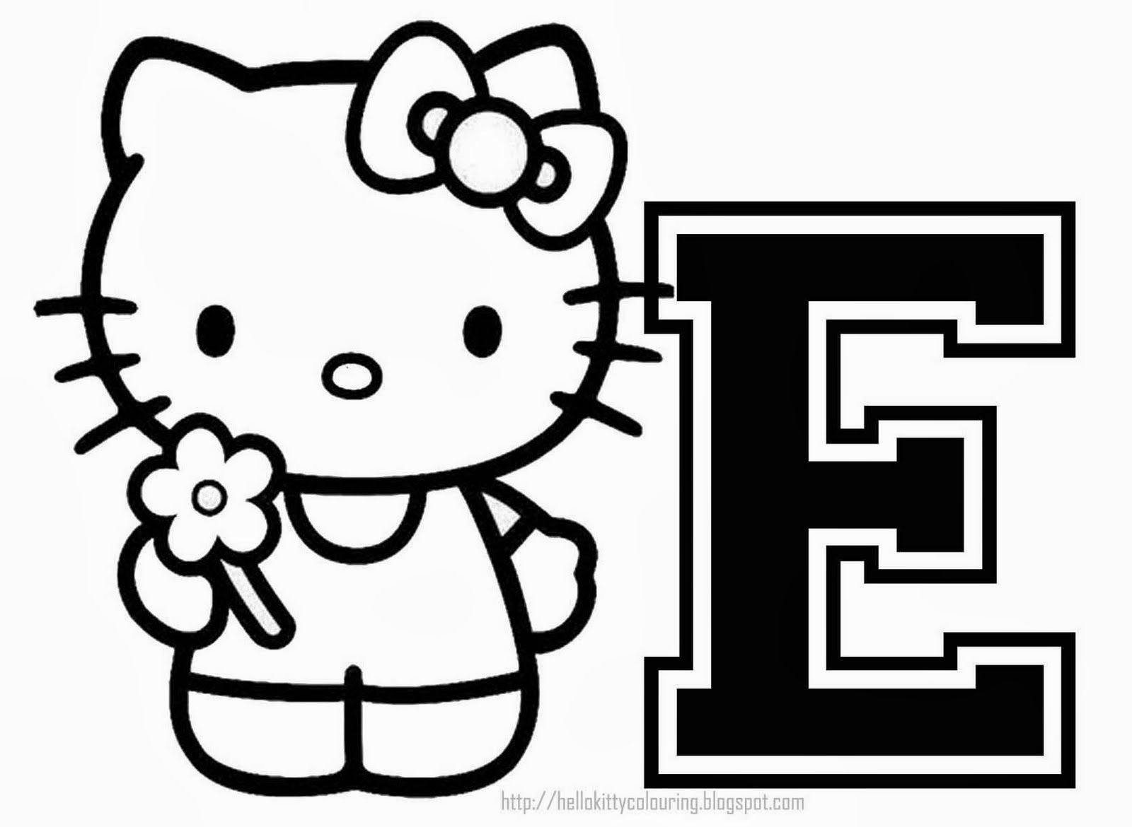 Hello Kitty Coloring Alphabet for. Hello Kitty Alphabet Coloring ...