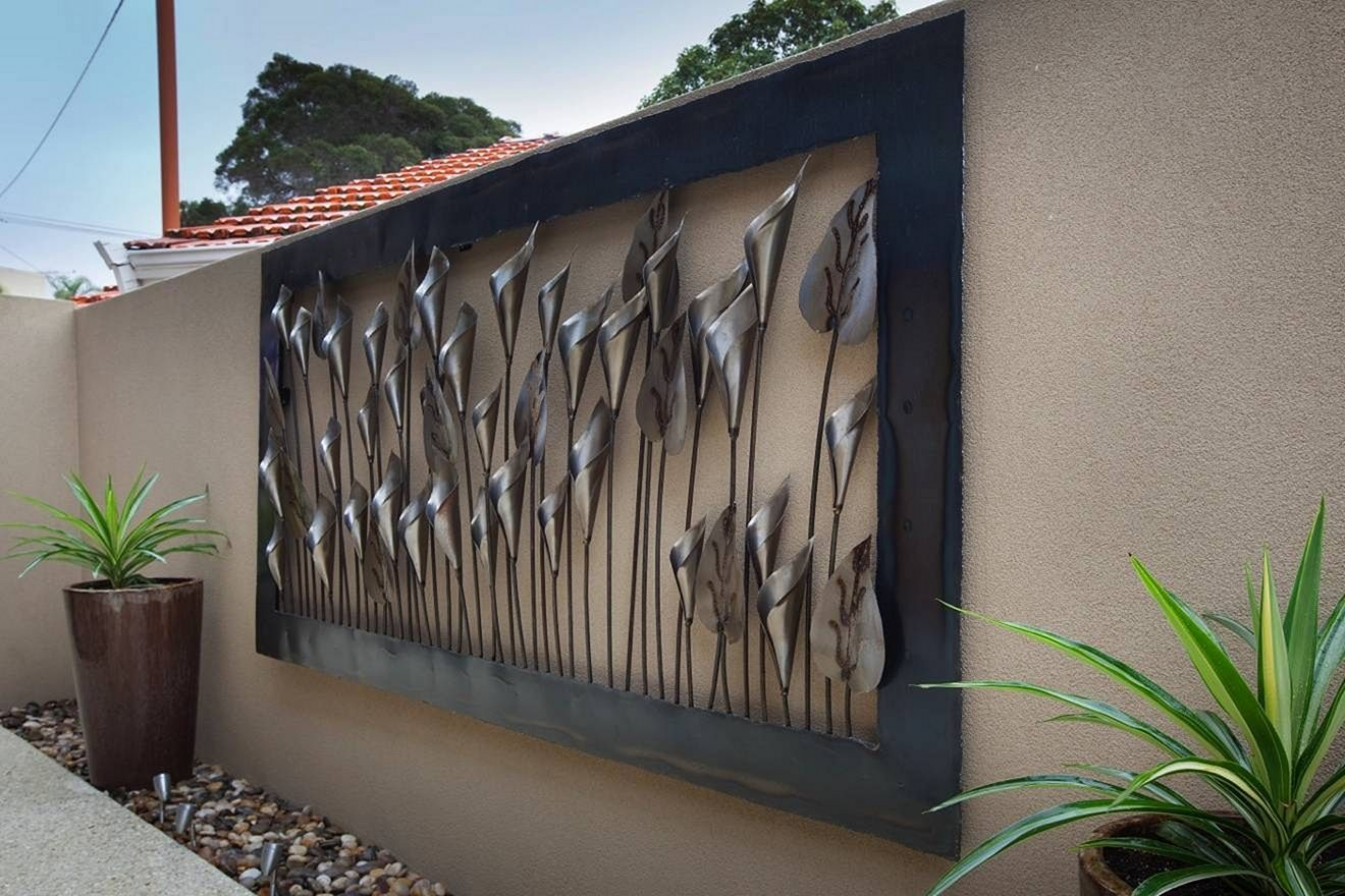 12 Marvelous Creative Outdoor Wall Decor For Best Home Ideas Large Outdoor Wall Art Outdoor Metal Wall Art Outdoor Wall Art