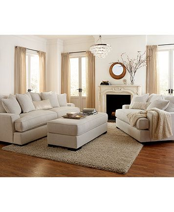 Ainsley Fabric Sofa Living Room Collection Only At Macy S Furniture Macy S Living Room Sofa Livingroom Layout White Furniture Living Room