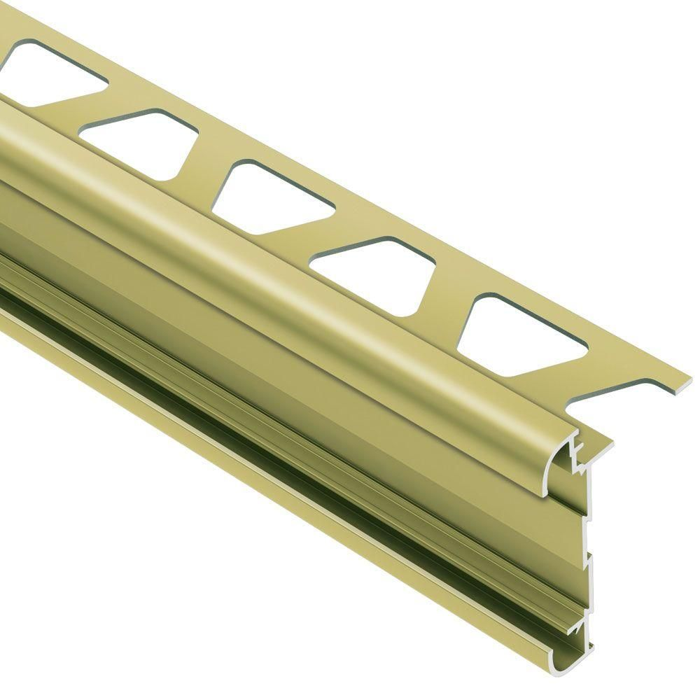 Schluter Rondec Ct Satin Brass Anodized Aluminum 3 8 In X 8 Ft 2