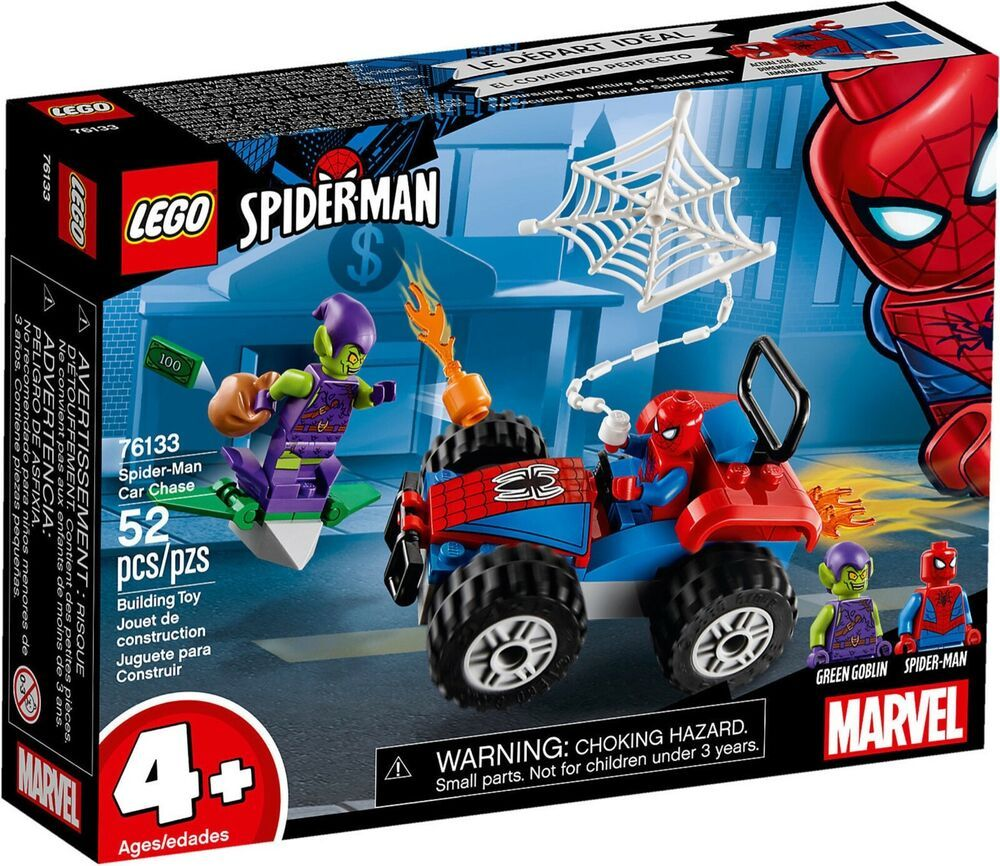 Details About Lego Marvel Superheroes 76133 Spiderman Car Chase Vs