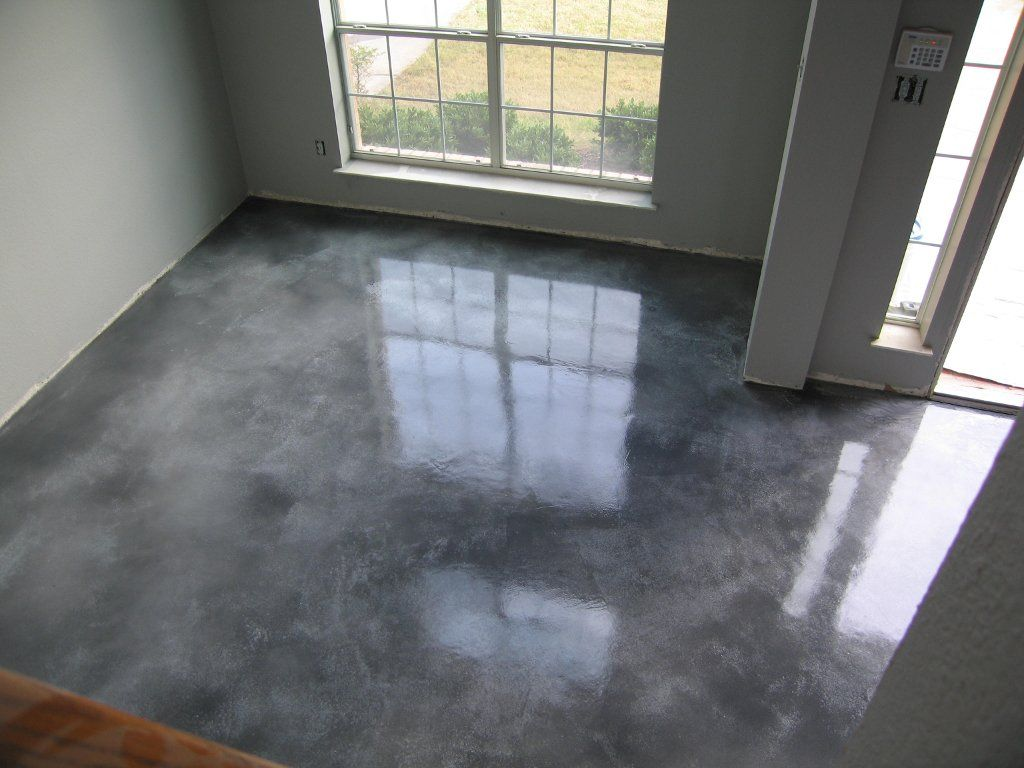 Acid stained overlay i am thinking of doing something similar in my house and then utilize - Cement basement floor ideas ...