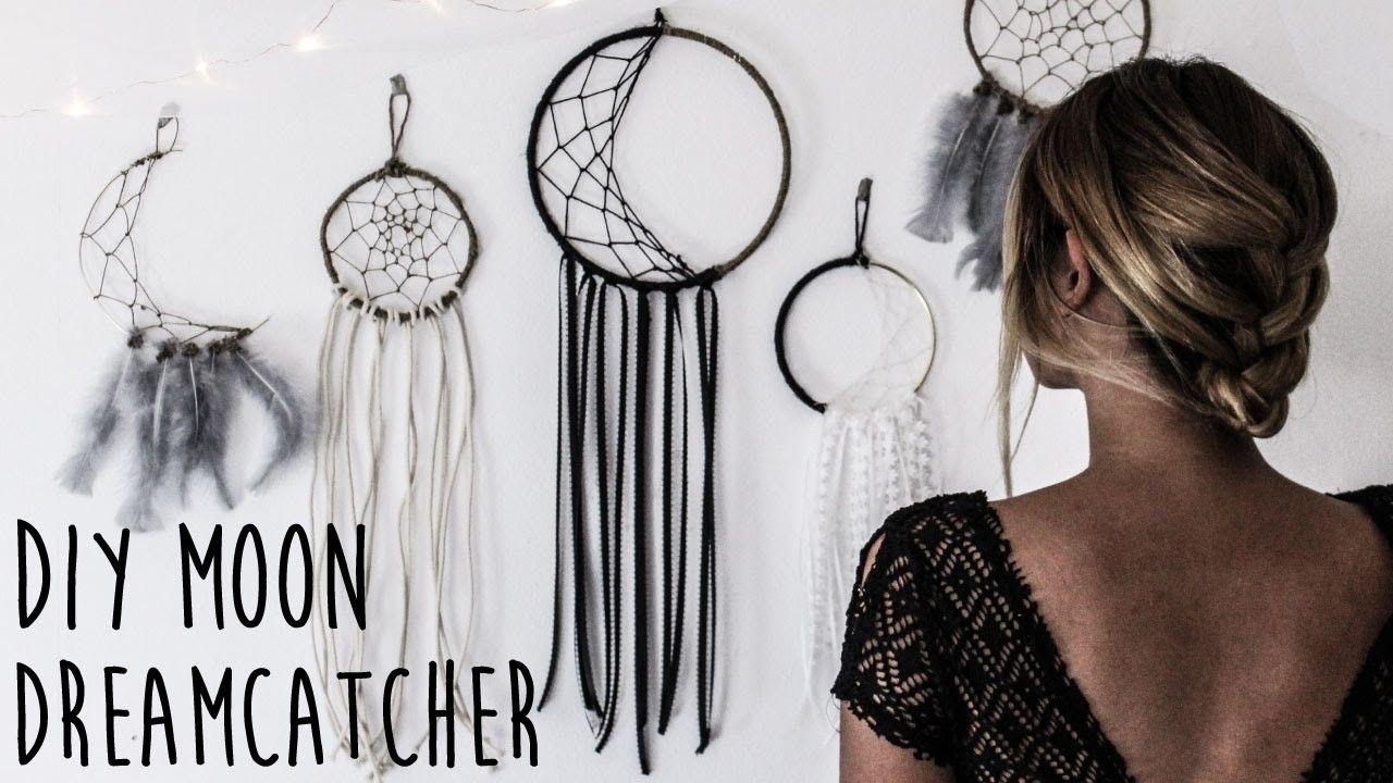 Diy How To Make A Crescent Moon Dreamcatcher Dream Catcher