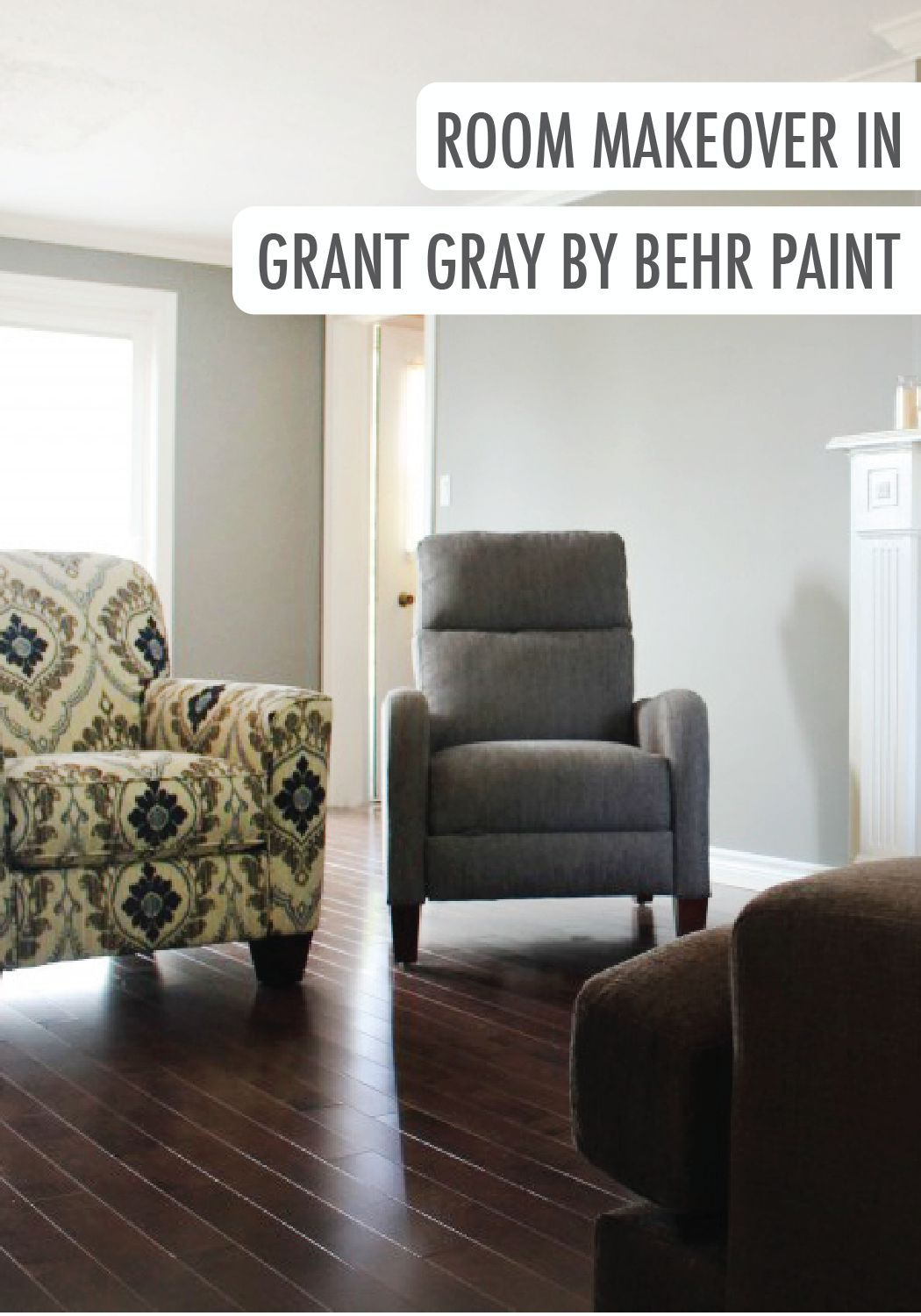 Best Room Makeover In Grant Gray By Behr Room Makeover 400 x 300
