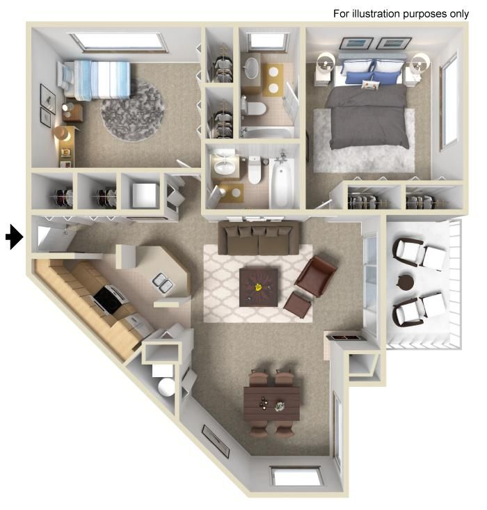 Need A Place Big Enough For A Roommate This Is Perfect Sims House Design House Plans House Layouts
