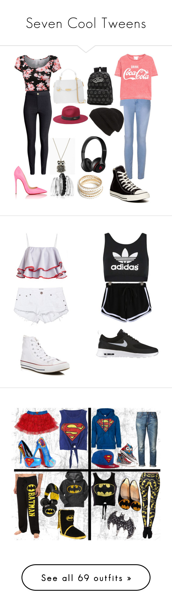 """""""Seven Cool Tweens"""" by sierra-ivy on Polyvore featuring Logoshirt, Converse, 6397, Old Navy, Valentino, Christian Louboutin, ASOS, Bling Jewelry, Bebe and Casetify"""