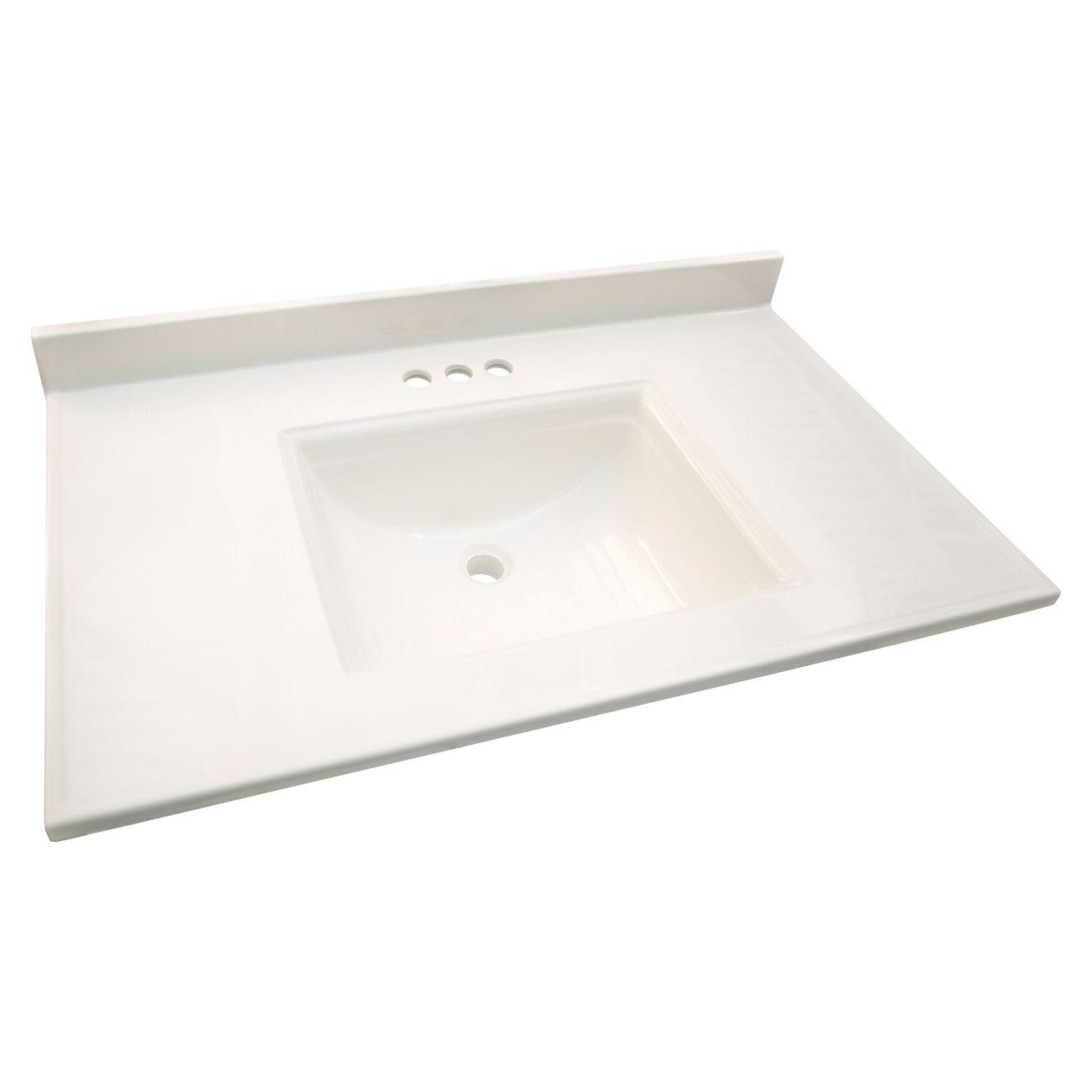 Design House Camilla 31in X 22in Vanity Top 557637 Base Top Separates Ace Hardware Bathroom Vanity Tops Marble Vanity Single Sink Bathroom Vanity