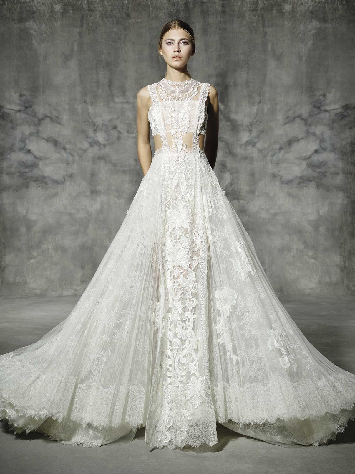 Atocha yolancris romantic couture dress wedding barcelona yolancris romantic wedding dresses and lace wedding gowns ideal for outdoor weddings tailored made by top bridal designer bridal atelier in barcelona ombrellifo Choice Image