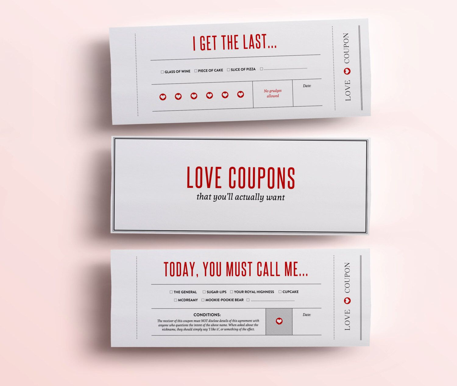 Fun Love Coupon Book  Valentines Day Gift   Funny Printable