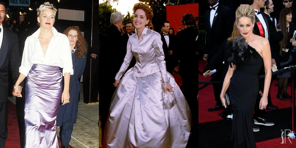 OSCARS // SHARON STONE OUTFIT // #fashion #sharonstone #oscars #galanight #celebrities #outfits #glam   @sharonstone