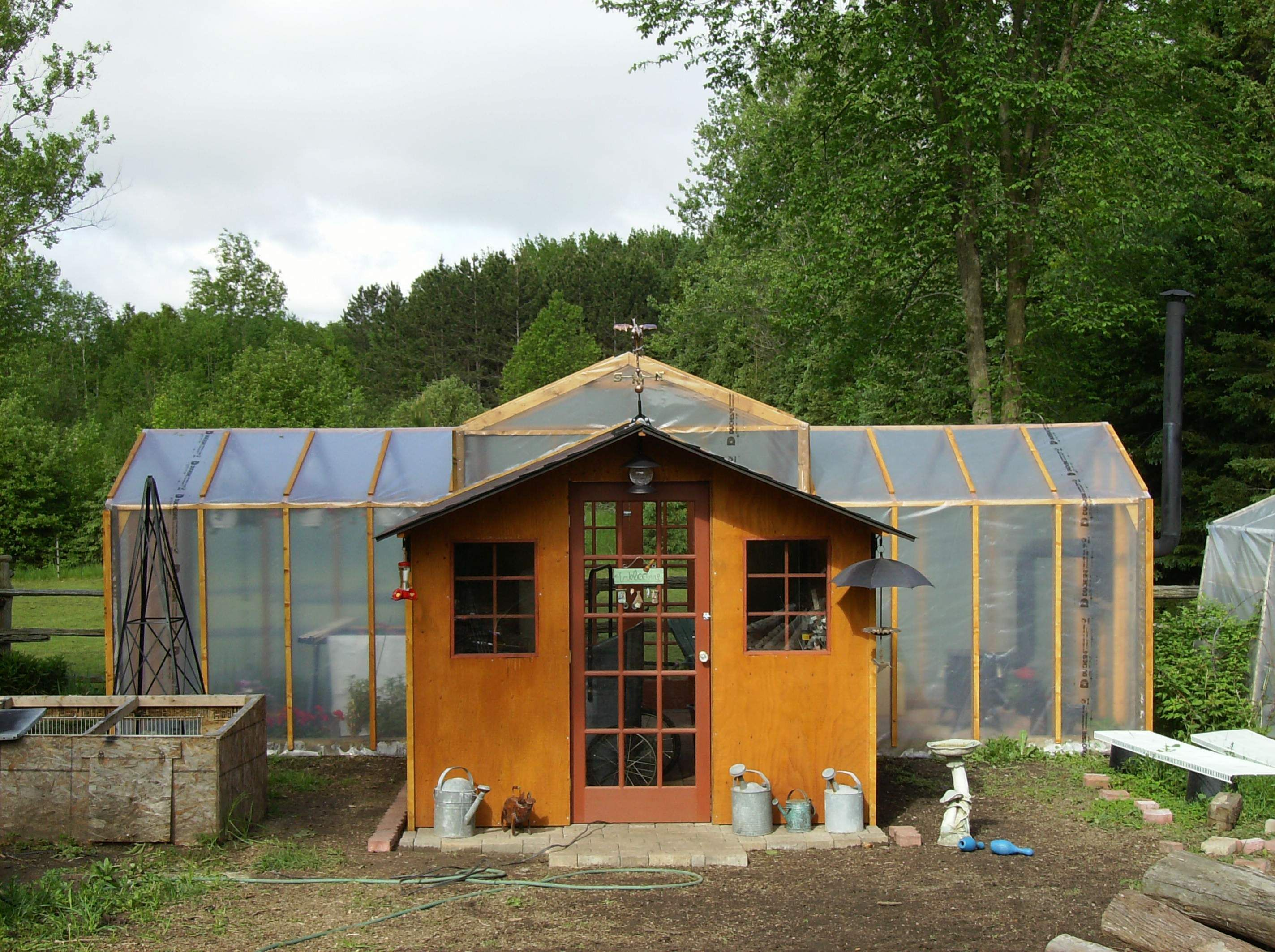Garden Shed Greenhouse Project Small Budget