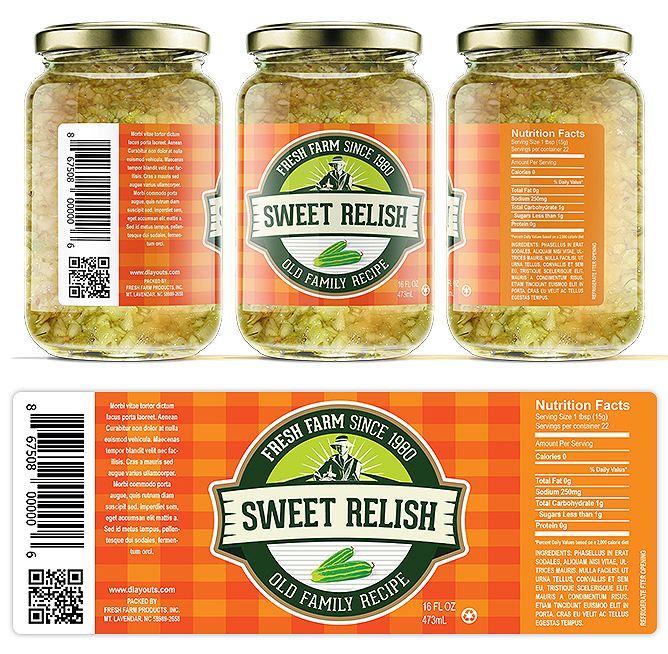 Sweet Relish Label Template HttpWwwDlayoutsComTemplate