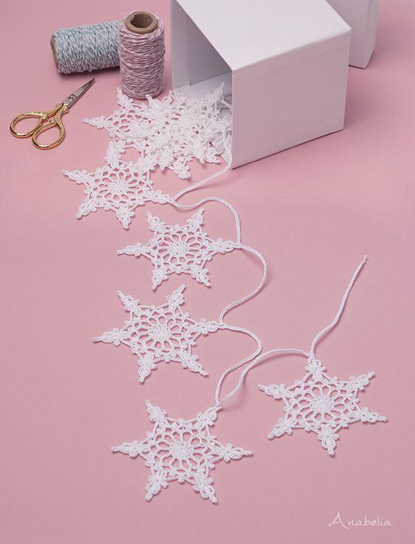 Snowflake crochet motif nr 4 pattern by Anabelia Craft Design ...
