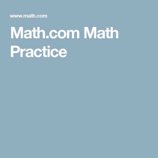 Math.com Math Practice | Songs | Pinterest | Math homework help ...