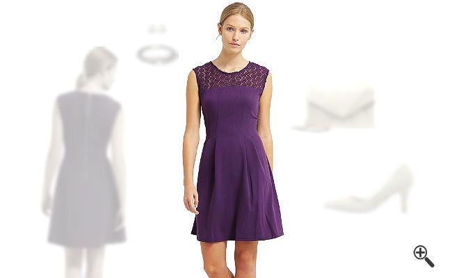 Lila Cocktailkleid kombinieren + 3 Lila Outfits für Joana: http ...
