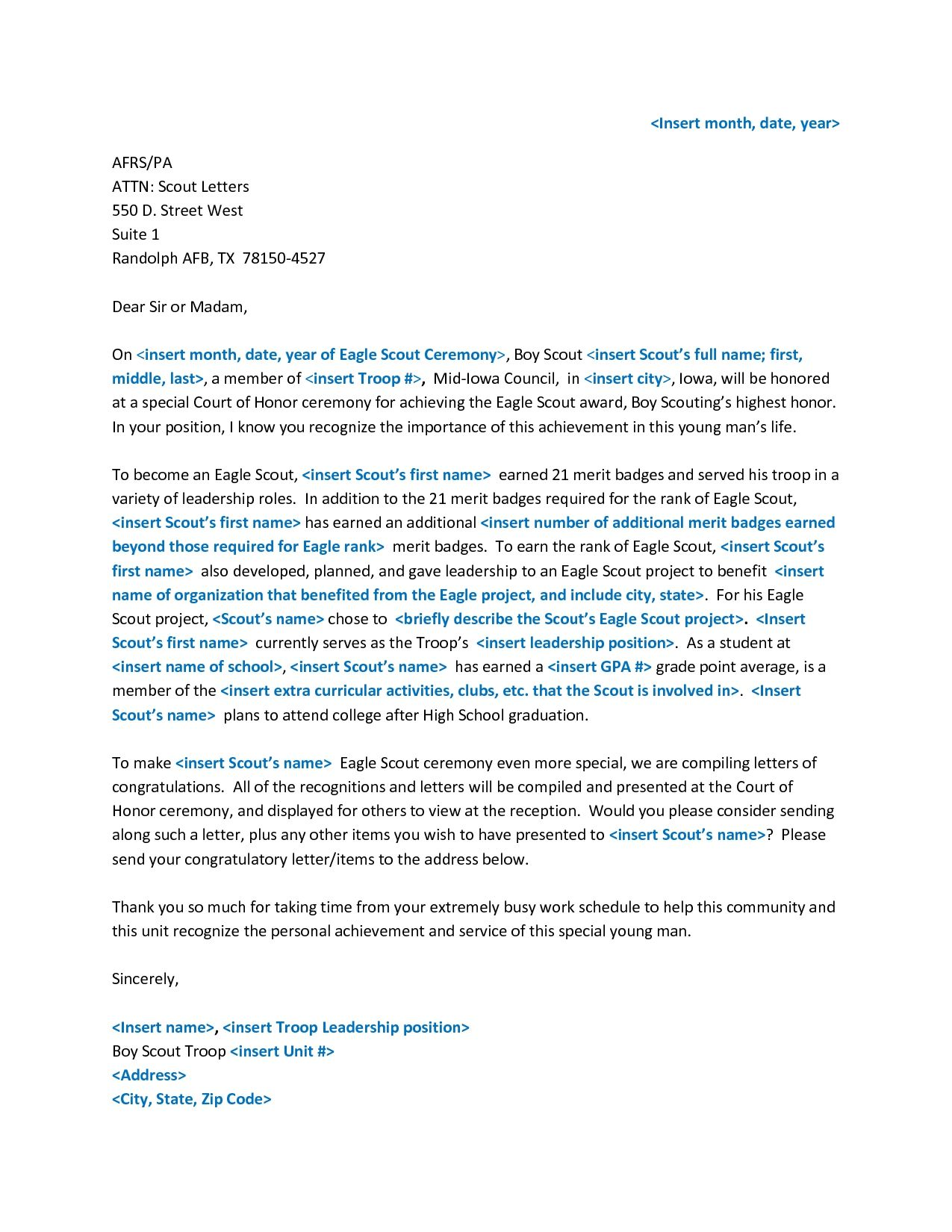 Eagle scout recommendation letter template resume cover news to go eagle scout recommendation letter template resume cover expocarfo Choice Image
