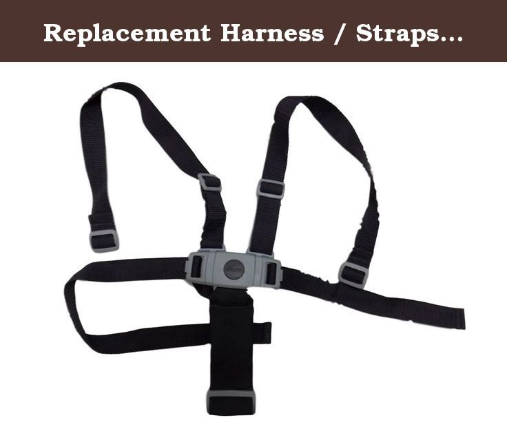 Replacement Harness Straps For Chicco Stack Highchair Dark