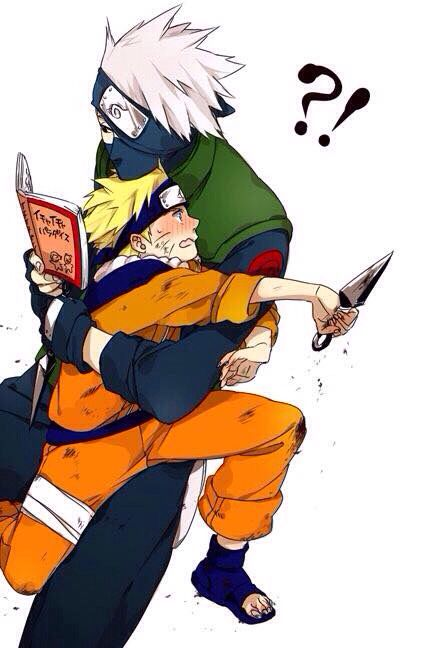 Awww Sensei And Student Naruto Shippuden Anime Kakashi Hatake Anime Naruto
