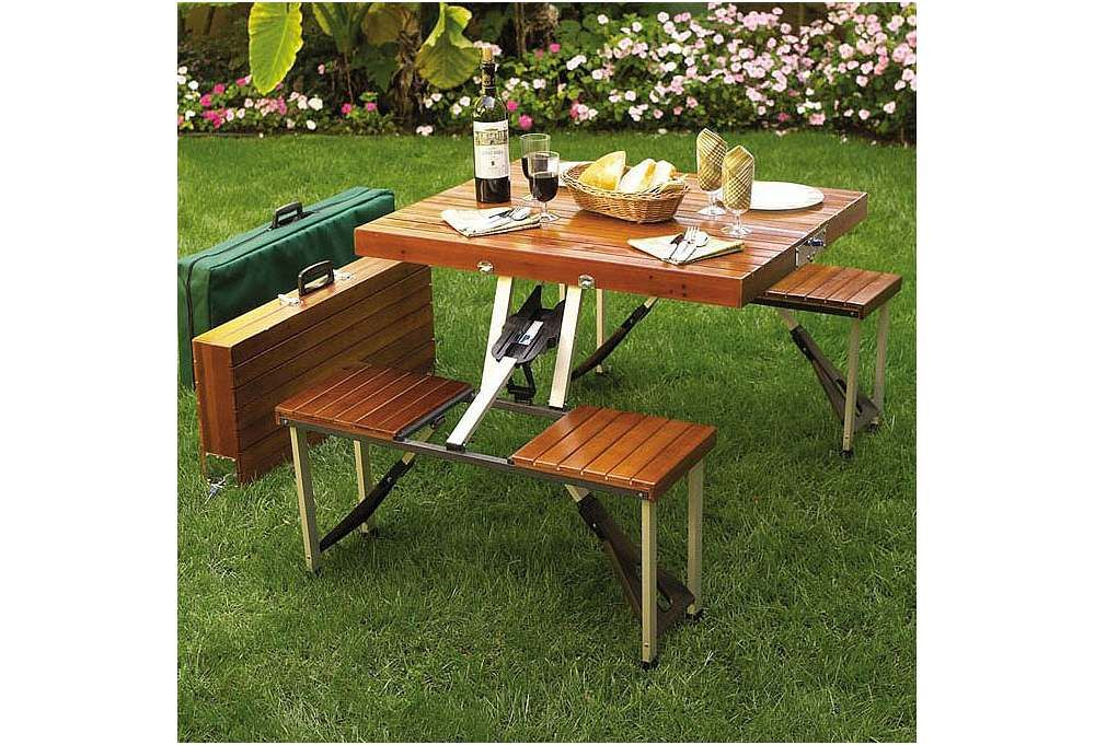 One Kings Lane Open Air Afternoons Portable Picnic Table Set