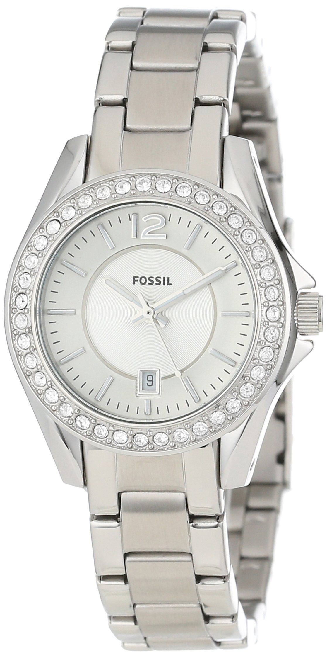 Fossil Riley Fossil Riley Analog Silver Dial Women S Watch Es2879 Watches