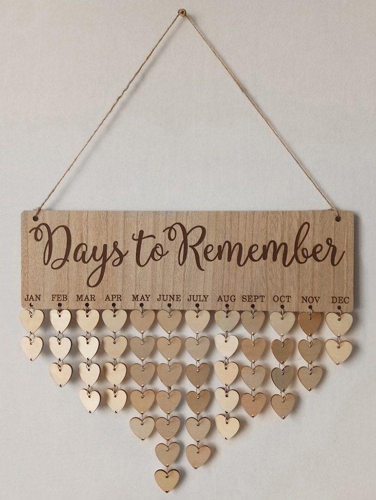 Burlywood Days To Remember Wall Hanging Diy Wood Calendar