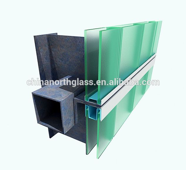 Double U Channel : Northglass certificated mm thickness with maxi