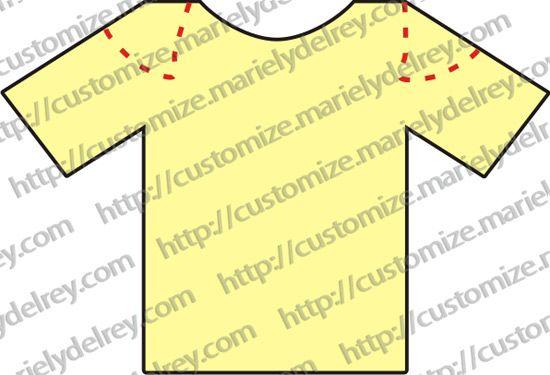 10 tipos de cortes para você customizar uma camiseta 93fe4d3367ff8