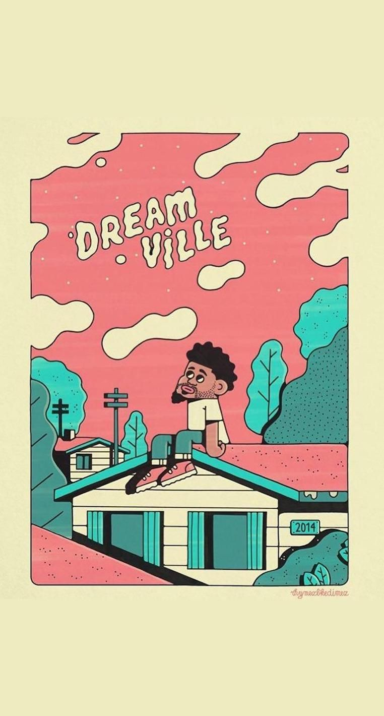 J Cole Dreamville Cartoon Art Rhymezlikedimez Wallpaper Edit Tupac Wallpaper Hip Hop Artwork J Cole Art