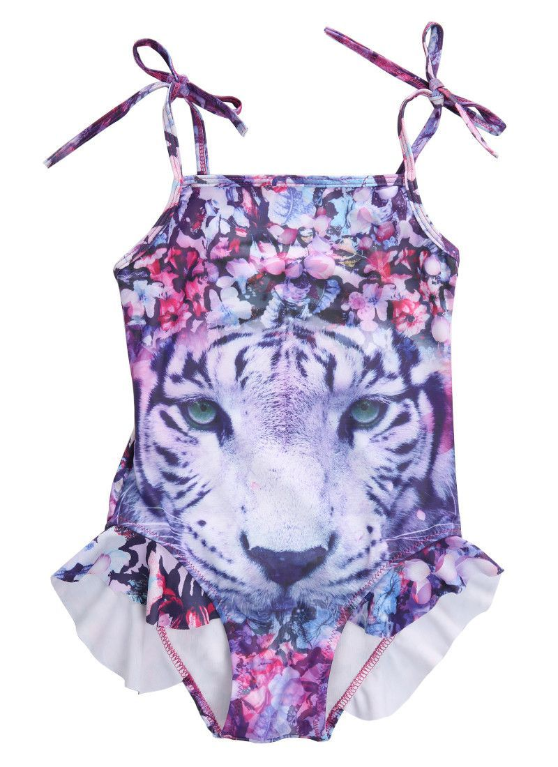 Tiger Girl Kids Bathing Suit Swimwear Bikini Tankini Swimsuit