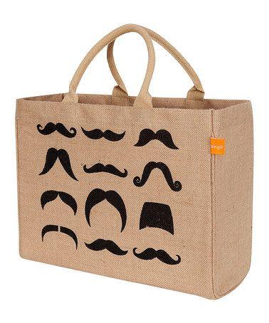 Look what I found on #zulily! Mustache Tote #zulilyfinds