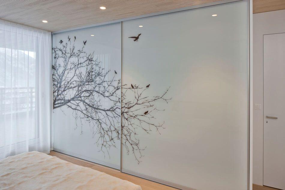Modern Kitchen Is Focal Point Of Swiss Home Door Glass Design Glass Wardrobe Wardrobe Door Designs