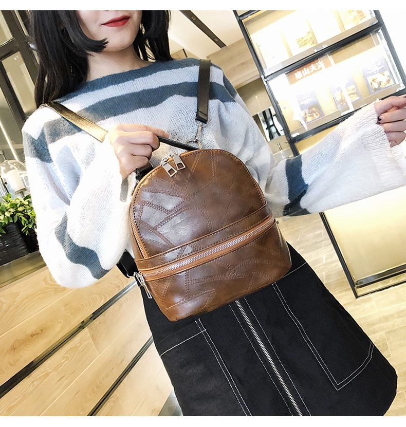 2ae385846cab Aliexpress.com : Buy Fashion Small Leather Women Backpack Solid ...