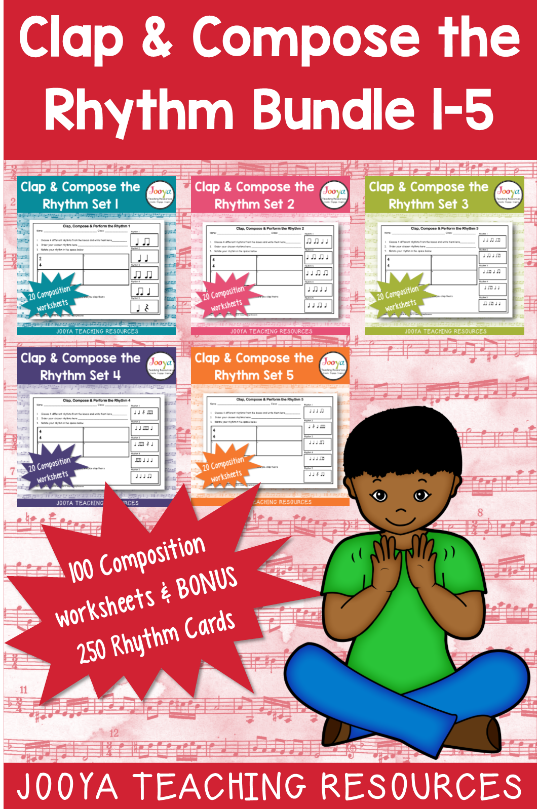 Music Rhythm Composition Worksheets Bundle