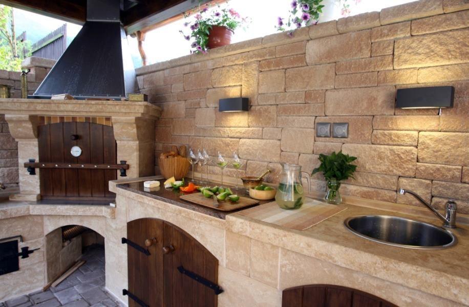 Outdoor Rustic Kitchen Outdoor Space Pinterest