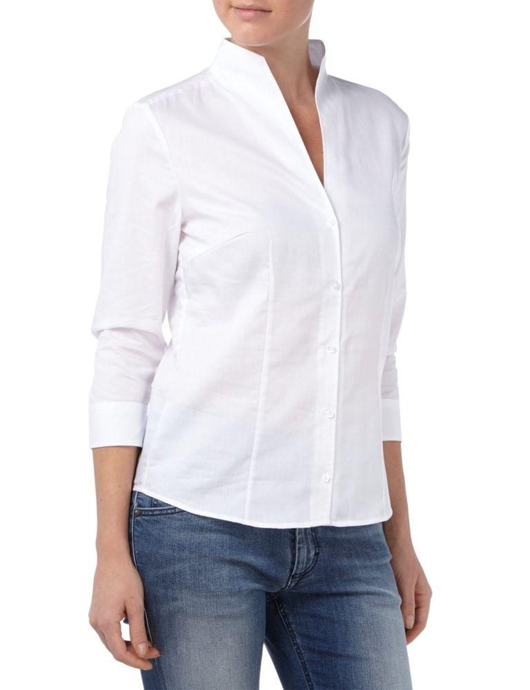 CHRISTIAN-BERG-WOMAN Bluse mit Kelchkragen in Weiß online kaufen ...