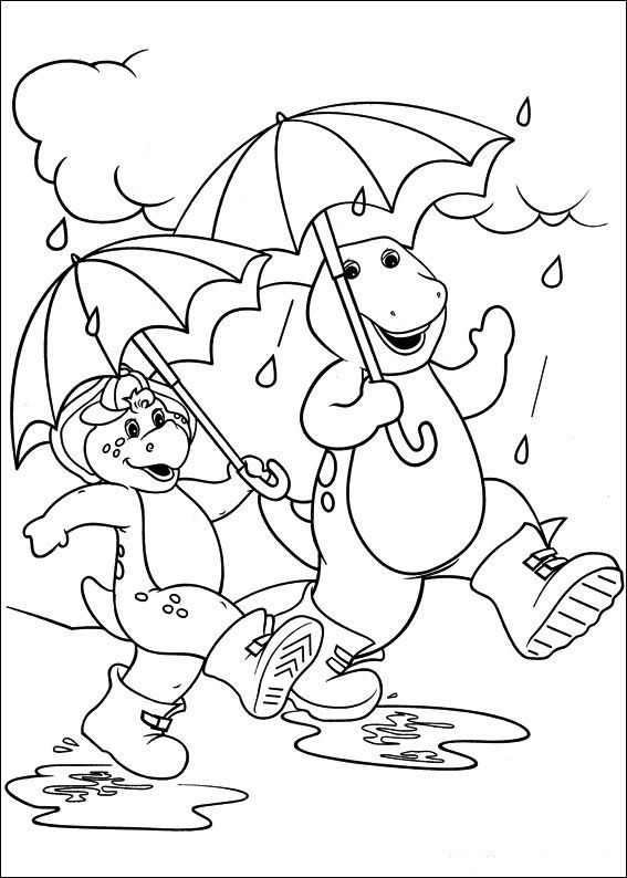 Barney And Friends Coloring Pages 2 Art Dinosaur Coloring