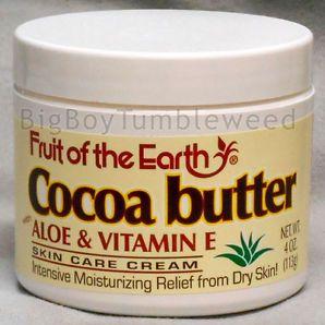 Fruit Of The Earth Cocoa Butter Aloe Vera Vitamin E Skin Care Cream 4 Oz Jar Skin Care Cream Aloe Vera Vitamin Diy Skin Cream