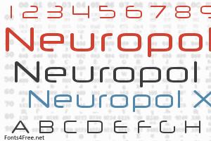 Neuropol X Font | Science Fiction Fonts | Fonts, Fiction